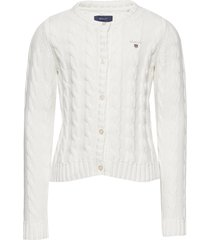 cotton cable cardigan gebreide trui cardigan wit gant