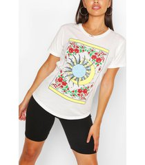 petite sun and moon t-shirt, ivory