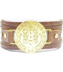 bracelete alice monteiro medalha de são bento.