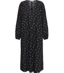 enjade dress aop 6818 jurk knielengte zwart envii