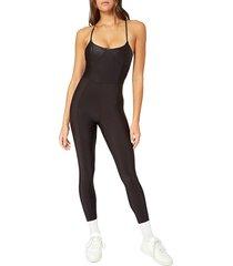 weworewhat women's catsuit bodysuit - black - size m