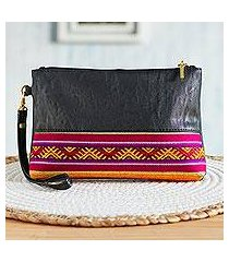 faux leather wristlet, 'smooth appeal' (peru)
