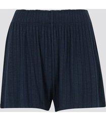 pyjamasshorts i mjuk viskos - marinblå