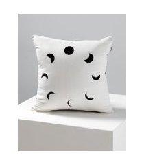 amaro feminino capa de almofada lunas, preto e branco