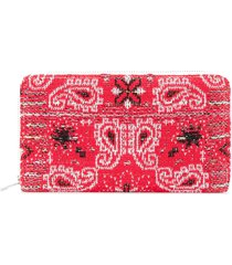 coohem knit tweed bandana wallet - red