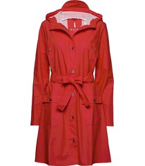 curve jacket regenkleding rood rains