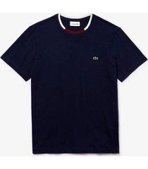 camiseta lacoste regular fit azul marinho - azul marinho - masculino - dafiti