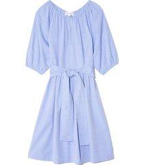 marian mini dress in chambray