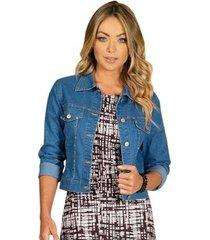 jaqueta jeans quintess feminina