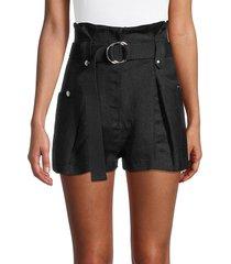 iro women's buxy textured belted shorts - black - size 34 (2)