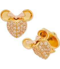 kate spade new york two-tone pave minnie stud earrings