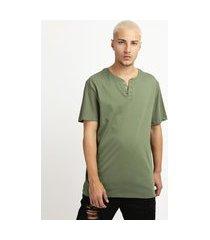camiseta masculina básica manga curta gola portuguesa verde