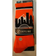 skyline athletic crew long socks - many colors, many cities! brand new! one size
