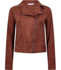 jacket biker suedine