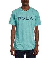 men's rvca big rvca logo t-shirt, size small - blue