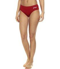 traje de baño pantie rojo asics stride brief