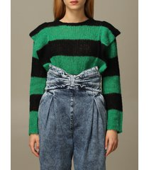 red valentino sweater red valentino sweater in mixed alpaca and wool with bands