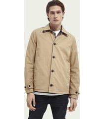 scotch & soda reversible organic cotton coach jacket