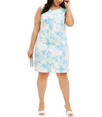 nine west plus size printed sheath dress