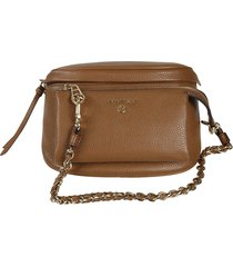 logo plaque chain messenger shoulder bag