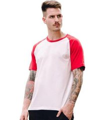 camiseta raglan lisa di nuevo masculina - masculino
