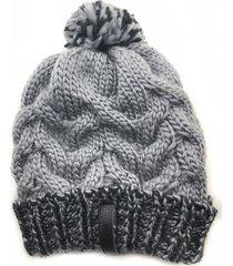gorro de lana beanie fifty jaspeado gris flaw