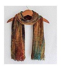 cotton blend scarf, 'summer dreamer' (guatemala)