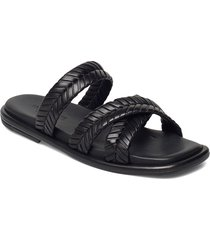angela shoes summer shoes flat sandals svart notabene
