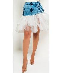 akira best life tulle mini skirt