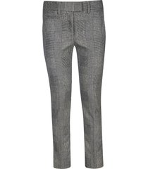 dondup checked pattern trousers