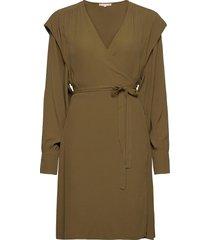 dora wrap dress jurk knielengte groen soft rebels