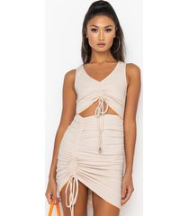 akira bitty from the bloc ribbed cut out dress