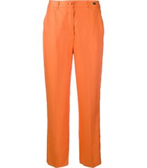 be blumarine low-waist tapered trousers - orange