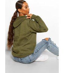 basic overhead hoodie, khaki