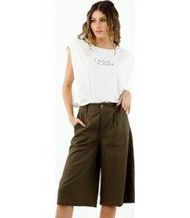 pantalón de mujer, silueta amplia, tiro largo, color gris