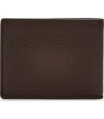 coach men's pebble leather slim bill wallet - oak