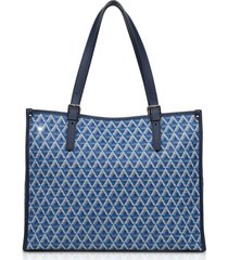lancaster paris designer handbags, large ikon coated canvas tote bag