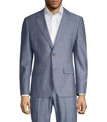 bonobos men's foundation slim-fit chambray jacket - blue chambray - size 40 r