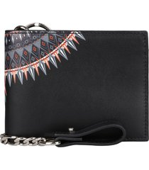 marcelo burlon leather flap-over wallet
