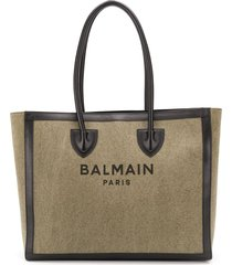 balmain b-army tote bag - green