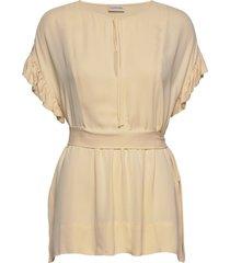 bai blouses short-sleeved creme by malene birger