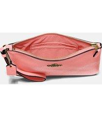 coach women's polished pebble small wristlet - b4/candy pink