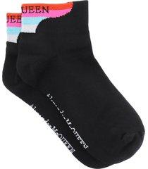 alexander mcqueen multicolor branding socks