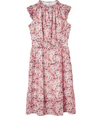 blommig, ärmlös klänning