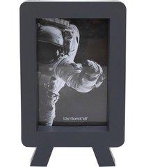 porta retrato minas de presentes 1 foto 10x15cm preto - preto - dafiti