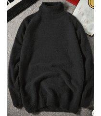 men brief style high cuello suéteres casuales cálidos