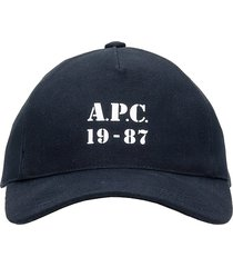 a.p.c. eden 19-87 hats in black cotton