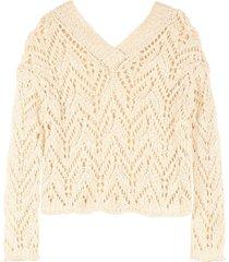 forte forte openwork-knit pullover