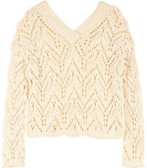 forte forte openwork-knit pullover