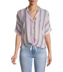 rails women's marley stripe tie-front camp shirt - mandalay stripe - size s